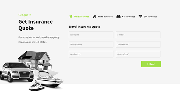 insurex insurance agency joomla business template