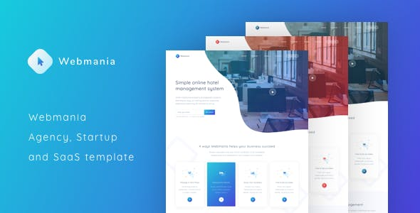 Html website templates from themeforest webmania agency startup and saas template maxwellsz