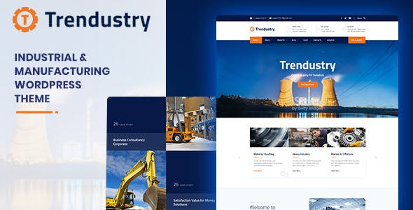 Manufacture Website Templates From Themeforest