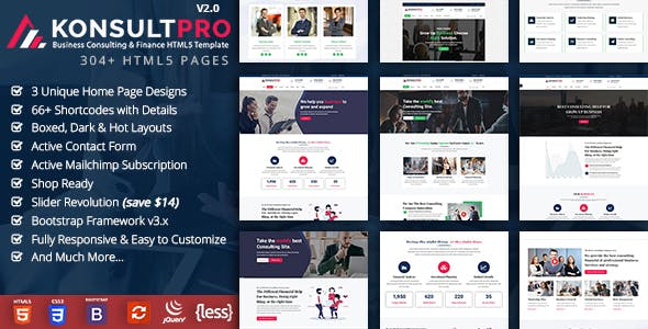 business consulting website templates from themeforest