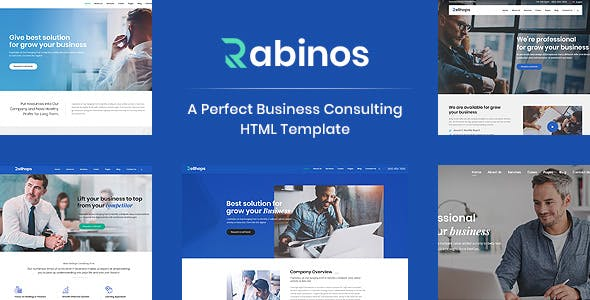 Html business website templates from themeforest rabinos consulting business html template accmission Images