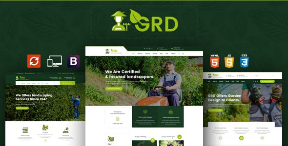 landscaping templates from themeforest