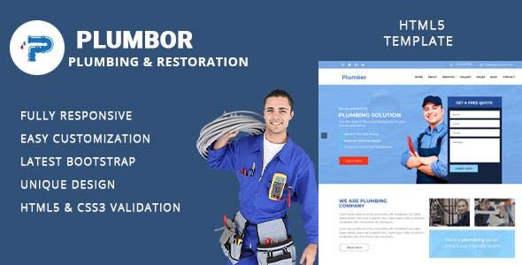 plumbor plumber and repair services maintenance html template