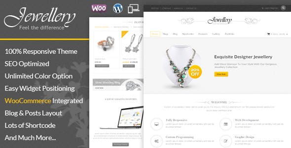 jewellery website templates from themeforest
