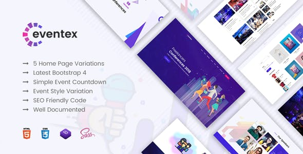 Eventex - Multiple Events Responsive WordPress Theme