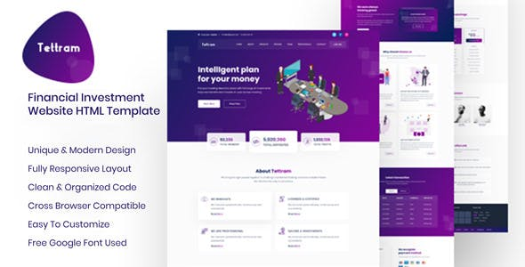 Html business website templates from themeforest tettram investment website html template accmission Gallery