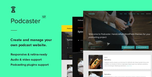Podcast Wordpress Themes From Themeforest