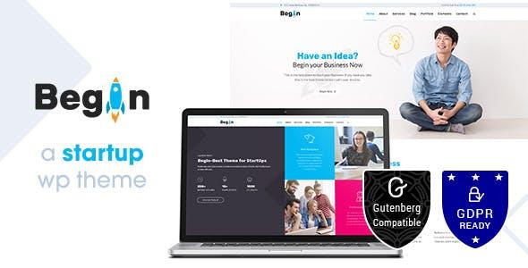 Begin Startup   Business, Startups Theme