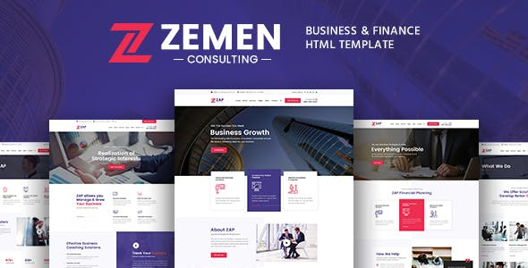 Professional corporate html website templates from themeforest zemen business consulting and professional services html template fbccfo Image collections