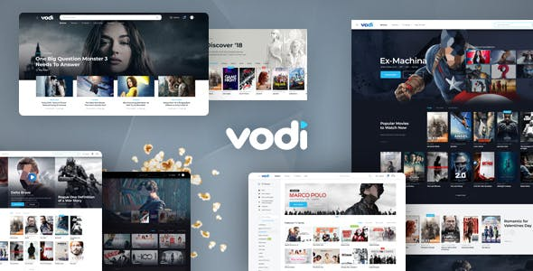movie streaming website templates from themeforest