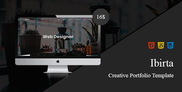 Ibirta Creative Portfolio Template