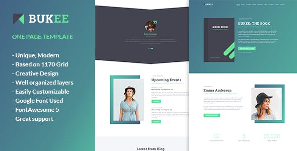One Page Marketing PSD Templates From ThemeForest