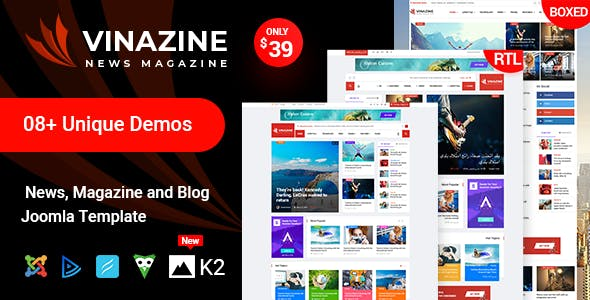 download Vinazine - Joomla News Magazine Template nulled