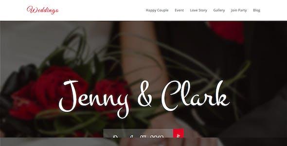 weddingo onepage wedding planner html template