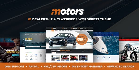 Motors ­- Automotive, Car Dealership, Car Rental, Auto, Classified Ads, Listing WordPress Theme