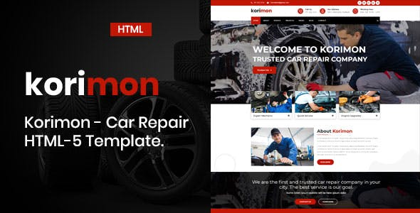 auto mechanic templates from themeforest
