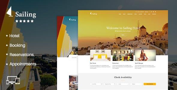 Hotel WordPress Theme   Sailing Hotel
