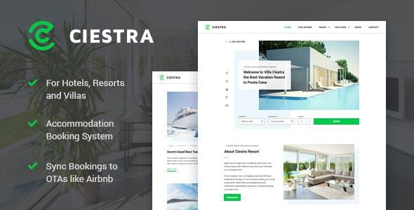 ciestra resort wordpress theme