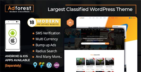 AdForest - Classified Ads WordPress Theme by scriptsbundle   ThemeForest