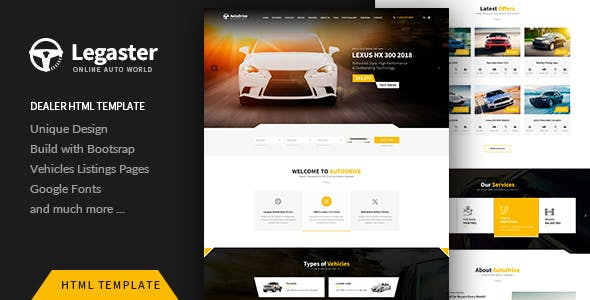 auto repair templates from themeforest