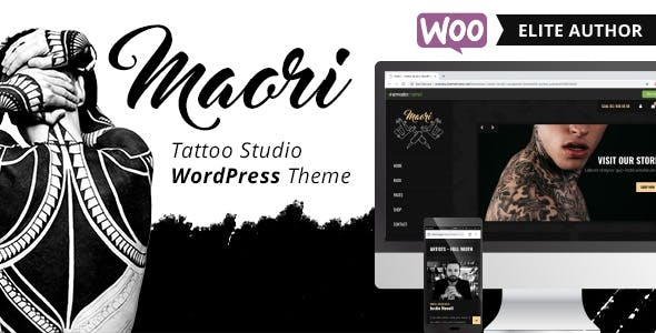 maori tattoo studio wordpress theme