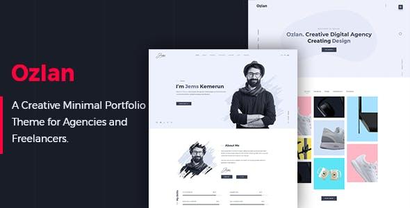 download Ozlan - A Creative Minimal Portfolio WordPress