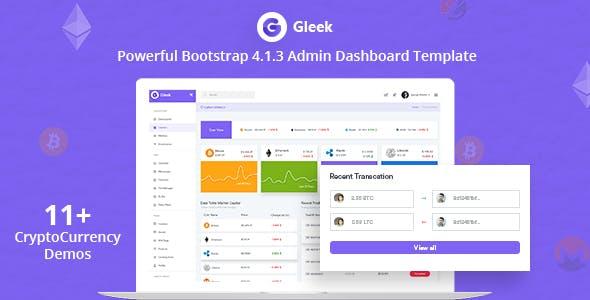 gleek powerful bootstrap 4 admin dashboard template