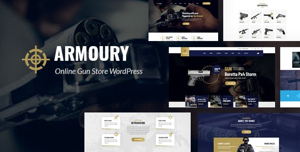 Armoury - Weapon Store WordPress Theme