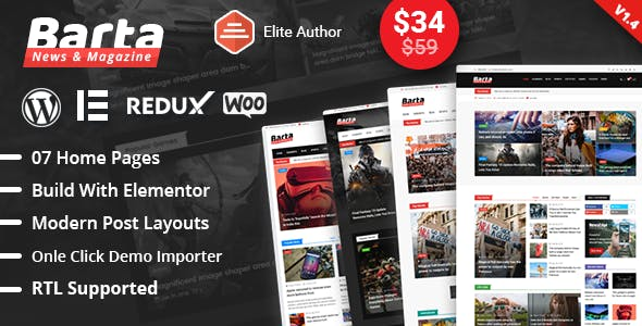 online newspaper templates from themeforest
