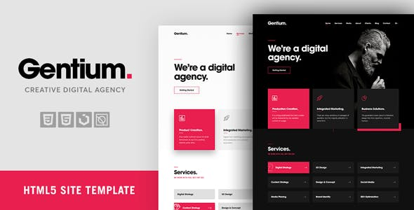 Gentium A Creative Digital Marketing Agency OnePage Template