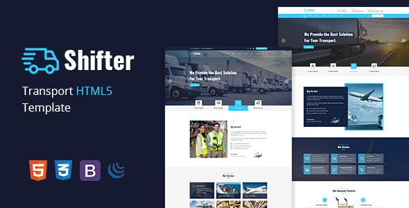 Shifter –  Transport & Logistic HTML Template