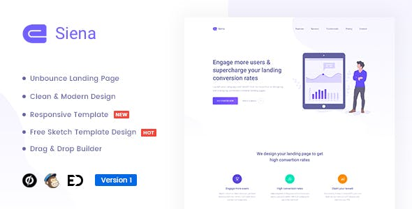 unbounce landing pages from themeforest