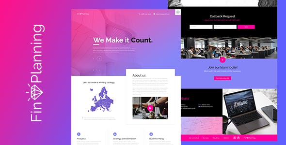 account templates from themeforest
