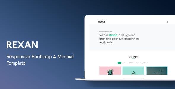 minimal html portfolio website templates from themeforest