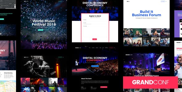 Conference Website Templates From ThemeForest