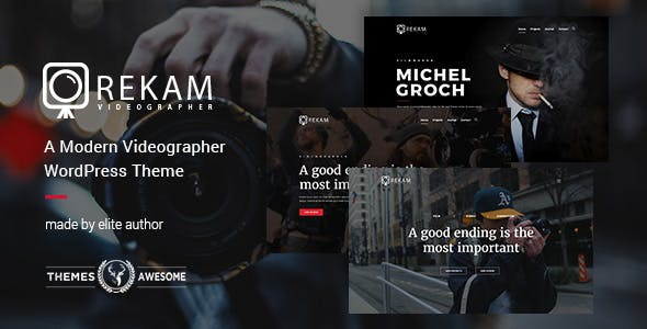 Videographer Website Templates From ThemeForest