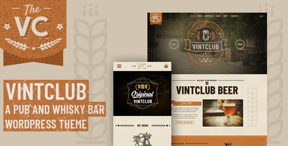 VintClub - A Pub and Whisky Bar WordPress Theme