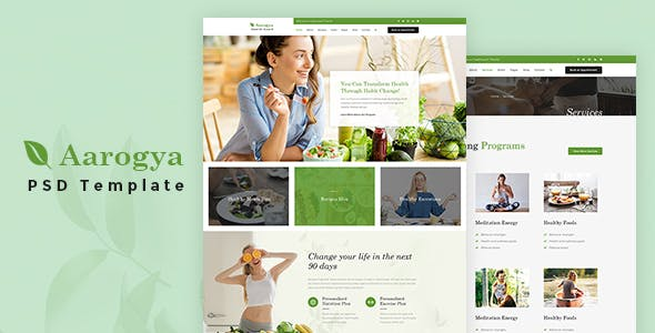 health coach templates from themeforest