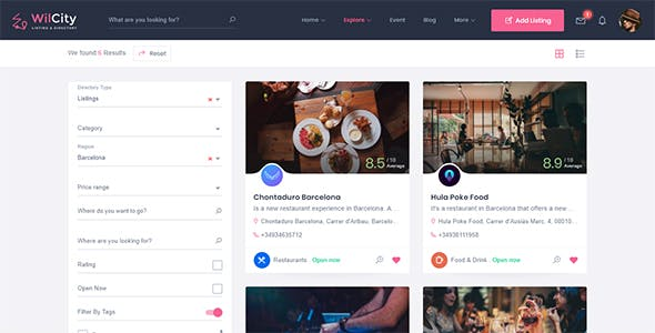 Directory Listing Website Templates From ThemeForest