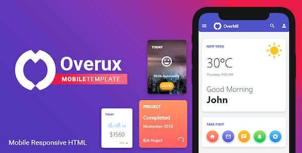 Overux Mobile Multipurpose - HTML Mobile App Template free