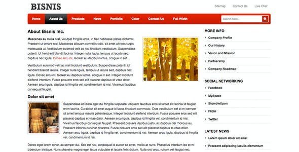 Business profile template website templates from themeforest business template for company profile flashek Gallery