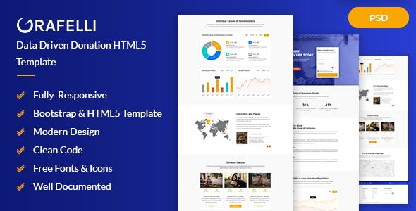 donation website templates from themeforest