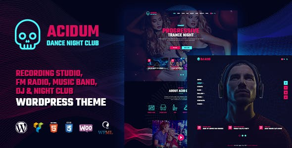 Acidum - Night Club, DJ and Dance & Disco Music Party WordPress Theme