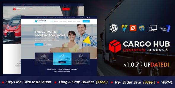 Cargo HUB - Transport WordPress Theme for Transportation, Logistics and Shipping Companies