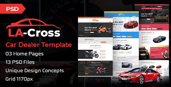 car selling template templates from themeforest