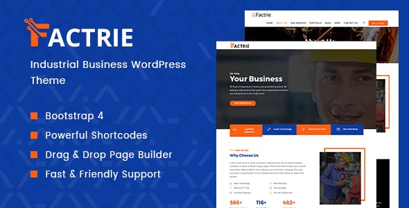 Factrie - Manufacturing / Engineering & Factory WordPress Theme nulled theme download