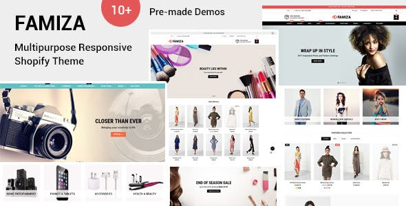 multi purpose shopify themes Free Download   Envato Nulled