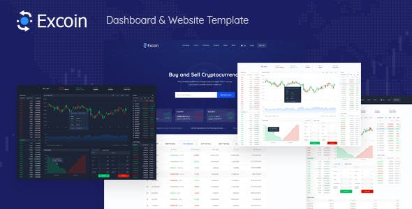 Excoin Crypto Currency Trading Dashboard Psd Template