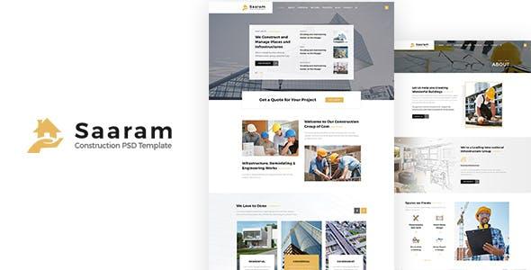 saaram construction psd template