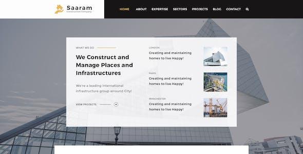 saaram construction psd template saaram construction psd template